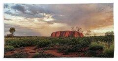 Uluru In The Distance Bath Towel