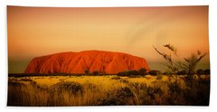 Uluru Sunset Bath Towel