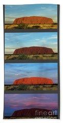 Bath Towel featuring the photograph Uluru Sunset by Werner Padarin