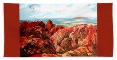 Uluru Viewed From Kata Tjuta Hand Towel