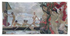 Ulysses And The Sirens Hand Towel by Otto Greiner