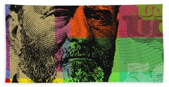 Hand Towel featuring the digital art Ulysses S. Grant - $50 Bill by Jean luc Comperat