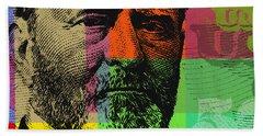 Bath Towel featuring the digital art Ulysses S. Grant - $50 Bill by Jean luc Comperat