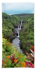 Umauma Falls Hawaii Bath Towel