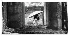 Umbrella Angkor Wat  Bath Towel