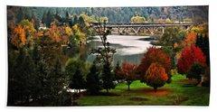 Umpqua Bridge In The Fall Bath Towel by Katie Wing Vigil