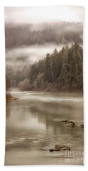Umpqua River Fog Bath Towel