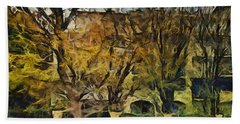Un Cheteau Dans Le Paradis - Two Of Two  Bath Towel by Sir Josef - Social Critic -  Maha Art