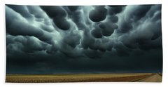 Under A Mammatus Sky Bath Towel