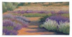 Under A Summer Sun In Lavender Fields Hand Towel