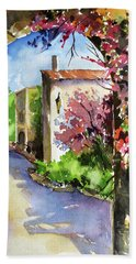 Under The Archway Hand Towel by Rae Andrews