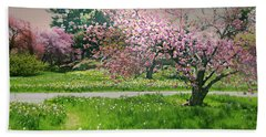 Hand Towel featuring the photograph Under The Cherry Tree by Diana Angstadt