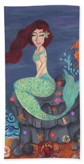 Under The Merlight Sea Hand Towel