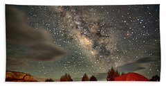 Hand Towel featuring the photograph Under The Milky Way by Anne Rodkin