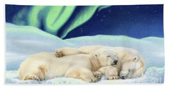 Under The Northern Lights Hand Towel