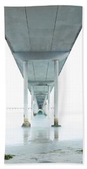 Under The Ocean Beach Pier Early Morning Hand Towel