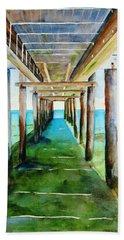 Under The Playa Paraiso Pier Hand Towel