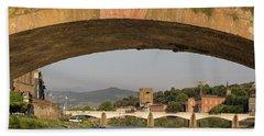 Under The Ponte Santa Trinita Bath Towel