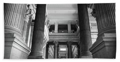 Under The Scaffolding Of The Palace Of Justice - Brussels Bath Towel