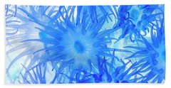 Hand Towel featuring the photograph Under The Sea Colorful Watercolor Art #14 by Debra and Dave Vanderlaan