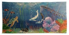 Bath Towel featuring the painting Under The Sea by Denise Tomasura