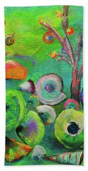 under the sea  - Orig painting for sale Bath Towel