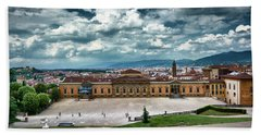 The Meridian Palace And Cityscape In Florence, Italy Bath Towel