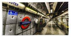 Underground London Art Hand Towel by David Pyatt