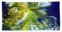 Underwater Flower Abstraction 2 Hand Towel by Lorella Schoales