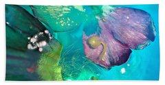 Underwater Flower Abstraction 4 Hand Towel by Lorella Schoales