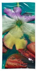 Underwater Flower Abstraction 5 Hand Towel by Lorella Schoales