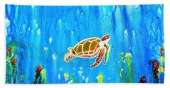Underwater Magic 5-happy Turtle Hand Towel