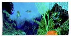 Underwater Bath Towel by Stan Hamilton