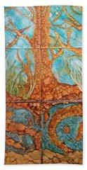 Underwater Trees Bath Towel