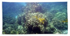 Underwater World Hand Towel by Karen Nicholson