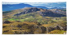 Undulating Landscape In Kerry In Ireland Bath Towel by Semmick Photo