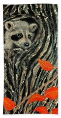 Bath Towel featuring the painting Unexpected Visitor by Susan DeLain