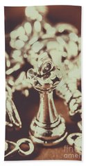 Unfallen Tower Of The Chess Game Bath Towel