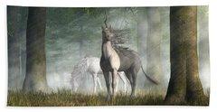 Bath Towel featuring the digital art Unicorn by Daniel Eskridge