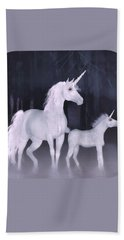 Unicorns In The Mist Bath Towel