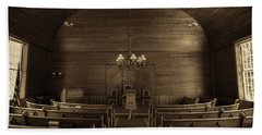 Union Christian Church Sanctuary - Sepia Bath Towel