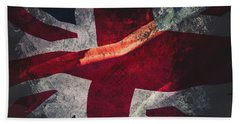 Union Jack Fine Art, Abstract Vision Of Great Britain Flag Hand Towel