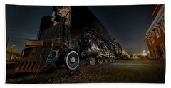 Union Pacific Engine 844 At Rest In Fairbury Nebraska At The Rock Island Depot Hand Towel