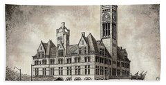 Union Station Mixed Media Hand Towel