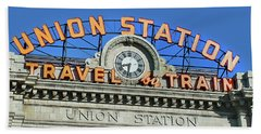 Union Station Sign Bath Towel