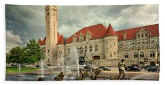 Union Station St Louis Color Dsc00422 Hand Towel by Greg Kluempers