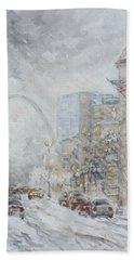 Union Station, St.louis - Winter Storm Bath Towel
