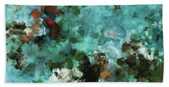 Unique Abstract Art / Landscape Painting Hand Towel by Ayse Deniz