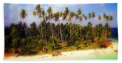 Unique Symbolic Island Art Photography Icon Zanzibar Sands Beaches Tourist Destination. Bath Towel by Navin Joshi