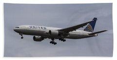United Airlines Boeing 777 Bath Towel